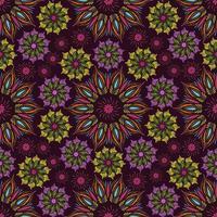 Seamless vector mandala pattern. Indian, tibetan, ottoman motifs.