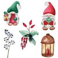 conjunto de diseño de ilustración de vector de navidad