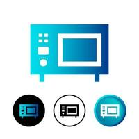 Modern Microwave Icon Illustration vector