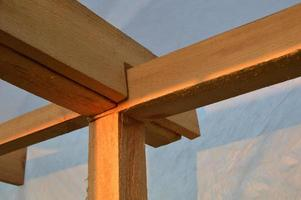 Building knots and designs from a tree, fastening of a framework photo