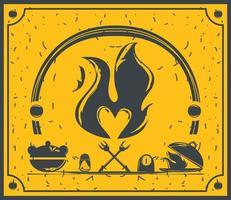 cooking restaurant pot salt shaker banner sketch style vector