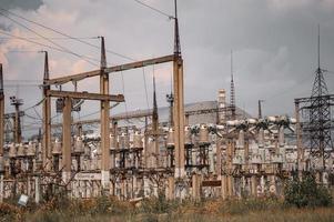 Planta de energía nuclear de Chernobyl después de la explosión del reactor atómico foto