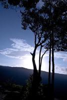 Beautiful mountains landscape and cloud blue sky photo