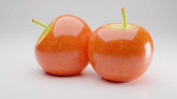 Perfectly Fresh red Apples Isolated on White Background in Full Depth of Field with Paths photo