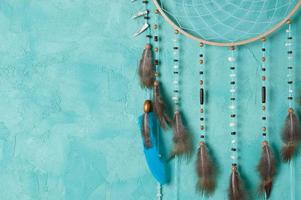 Turquoise dream catcher photo