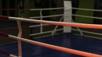 anillo de boxeo vacío vista frontal foto