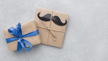 father s day with cute presents photo
