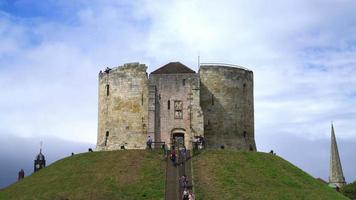 Clifford Tower a historical castle in York City, UK video