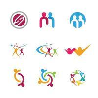 comunidad, red e icono social vector