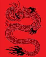 chinese dragon art vector