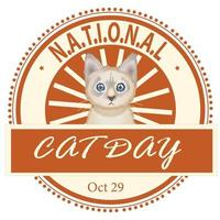 National Cat Day Badge vector