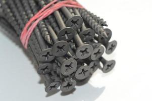 Fasteners, screws, screws and nails photo
