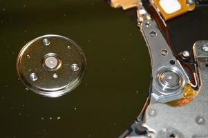 reparar el disco duro de la computadora microelectrónica foto