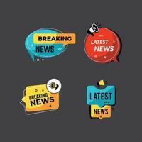News announcements badges price down sales shop discount megaphone symbols promo vector