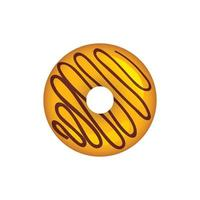 Donuts desserts round fast food products tasty chocolate rings cakes colored set donut snack dessert round glazed illustration vector
