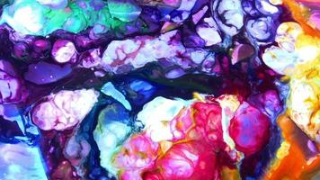 Color Ink Paint Spread Exploding Background video