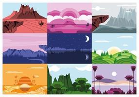 landscape different season vector