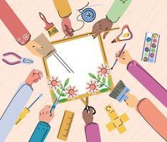 diy art crafts class vector