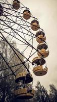 Pripyat, Ukraine, 2021 - Old Ferris wheel in Chernobyl photo