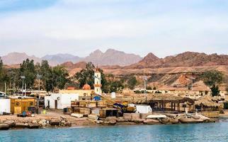 Egypt, 2021 - Village slum port on the Red Sea photo