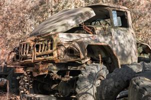 Pripyat, Ukraine, 2021 - Army truck in Chernobyl photo