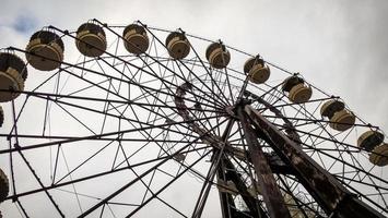 Pripyat, Ukraine, 2021 - Ferris wheel in Chernobyl photo