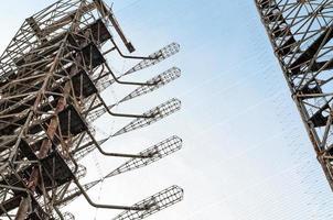 Pripyat, Ukraine, 2021 - Radio towers in Chernobyl photo