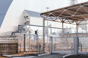pripyat, ucrania, 2021 - planta de energía en chernobyl foto
