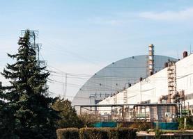 pripyat, ucrania, 2021 - planta de energía nuclear en chernobyl foto