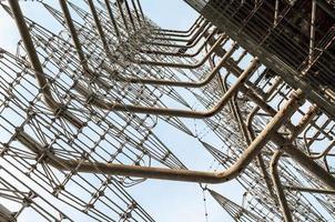 Pripyat, Ukraine, 2021 - Close-up of a radio tower in Chernobyl photo