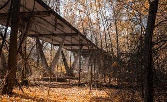 Pripyat, Ukraine, 2021 - Bridge in Chernobyl photo