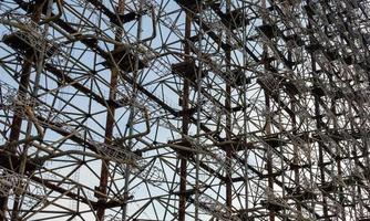 Pripyat, Ukraine, 2021 - Radio tower frame in Chernobyl photo