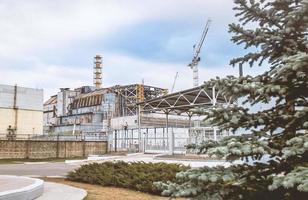 pripyat, ucrania, 2021 - cuarta unidad de potencia de la central nuclear de chernobyl foto