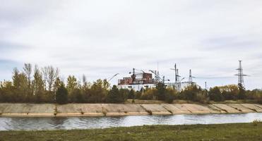 Pripyat, Ucrania, 2021 - Central nuclear de Chernobyl después del accidente. foto