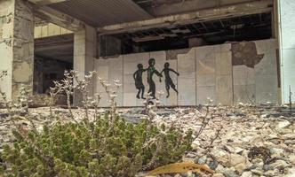 Pripyat, Ukraine, 2021 - Wall art n Chernobyl photo