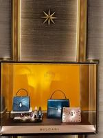 Florencia, Italia, 18 de septiembre de 2016 - Detalle de la tienda bulgari en Florencia, Italia. bulgari es una marca italiana de joyería y artículos de lujo fundada en 1884 en roma. foto
