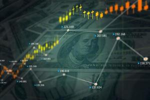 Financial Stock Exchange. Forex market and US Dollar. photo