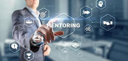 mentoring motivación coaching carrera concepto de tecnología empresarial foto