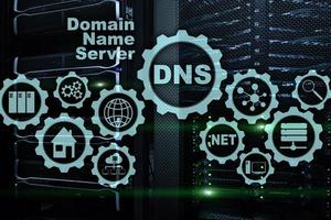 DNS. Domain Name System. Network Web Communication. Internet and digital technology concept photo