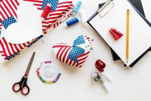 4th of July USA Independance Day pin cusion craft photo