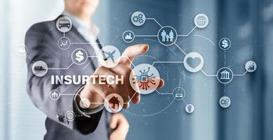 Insurtech. New insurance model 2021. Finance concept photo