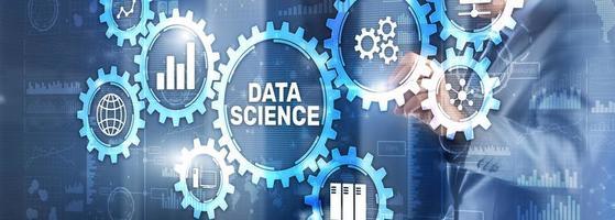 Data science business analytics internet technology concept photo