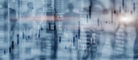 gráfico del mercado de valores. fondo abstracto para presentación foto
