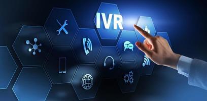 Interactive voice response IVR DTMF Telecommunication concept photo