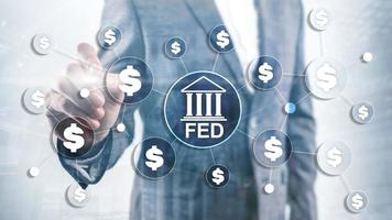 FED federal reserve system usa banking financial system business concept photo