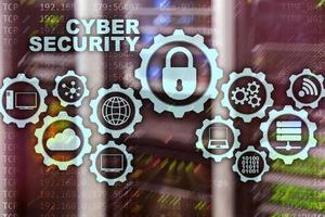 Cyber Security Network. Data Protection Privacy Concept on datacenter background photo