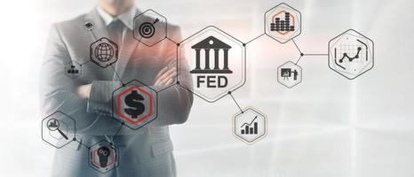 Federal Reserve System. FED. Financial Business Background. photo