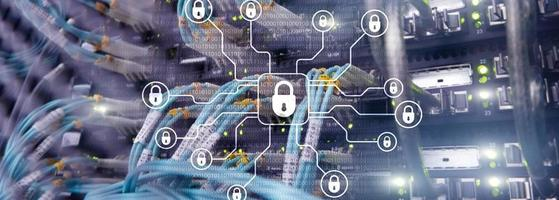 Cyber security, data protection,information privacy. Internet and technology concept photo
