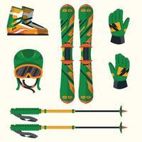 Winter Sport Equipment Set vector