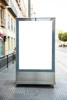 blank billboard street photo